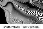 vector 3d striped waves....   Shutterstock .eps vector #1319405303