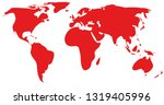 red world map | Shutterstock .eps vector #1319405996