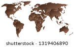 political world map | Shutterstock .eps vector #1319406890