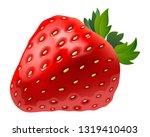 realistic strawberry fruit... | Shutterstock .eps vector #1319410403