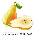 realistic pear fruit vector | Shutterstock .eps vector #1319410406