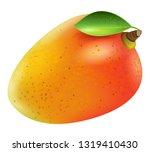 realistic mango fruit vector | Shutterstock .eps vector #1319410430
