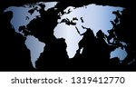 world map silhouette | Shutterstock .eps vector #1319412770