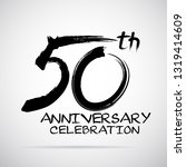 vector brush calligraphy 50... | Shutterstock .eps vector #1319414609