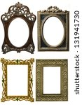 ancient decorative frame on... | Shutterstock . vector #131941730
