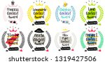 series of cute funny award...   Shutterstock .eps vector #1319427506