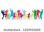 happy family dancing... | Shutterstock .eps vector #1319432603