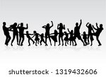 happy family. dancing... | Shutterstock .eps vector #1319432606