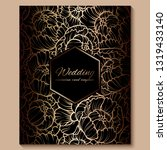 antique royal luxury wedding...   Shutterstock .eps vector #1319433140