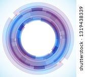 geometric frame from circles ...   Shutterstock .eps vector #1319438339