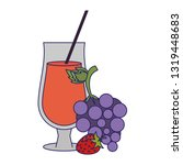grapes and strawberries natural ... | Shutterstock .eps vector #1319448683