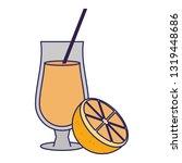 orange natural fruit juice blue ... | Shutterstock .eps vector #1319448686
