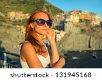 beautiful woman travelling | Shutterstock . vector #131945168