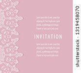 invitation or card template...   Shutterstock .eps vector #1319458070
