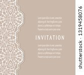 invitation or card template...   Shutterstock .eps vector #1319458076