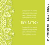 invitation or card template...   Shutterstock .eps vector #1319458079