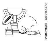 american football sport game...   Shutterstock .eps vector #1319464370