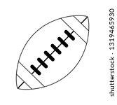 american football ball symbol...   Shutterstock .eps vector #1319465930