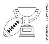 american football sport game...   Shutterstock .eps vector #1319465960
