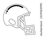 american football helmet...   Shutterstock .eps vector #1319465990