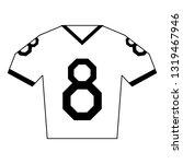 american football tshirt wear...   Shutterstock .eps vector #1319467946