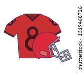 american football sport game...   Shutterstock .eps vector #1319468726