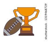 american football sport game...   Shutterstock .eps vector #1319468729