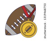 american football sport game...   Shutterstock .eps vector #1319468753