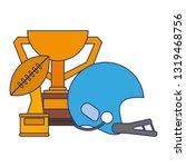 american football sport game...   Shutterstock .eps vector #1319468756