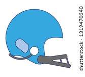 baseball helmet sport equipment ...   Shutterstock .eps vector #1319470340