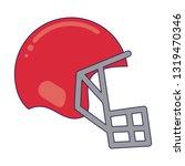 american football helmet...   Shutterstock .eps vector #1319470346