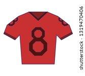 american football tshirt wear...   Shutterstock .eps vector #1319470406