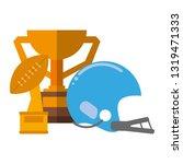 american football sport game   Shutterstock .eps vector #1319471333