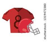 american football sport game   Shutterstock .eps vector #1319472380