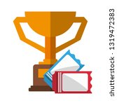 sport trophy cup with tickets   Shutterstock .eps vector #1319472383