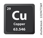 copper cu chemical element icon....   Shutterstock .eps vector #1319477369