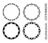 set of vector vintage frames on ...   Shutterstock .eps vector #1319488040