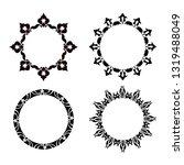 set of vector vintage frames on ...   Shutterstock .eps vector #1319488049
