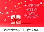 women's day message with... | Shutterstock . vector #1319495663