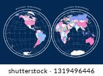 map of hemispheres on dark... | Shutterstock .eps vector #1319496446