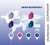 map pointer icon vector eps 10  ... | Shutterstock .eps vector #1319496449