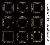 set of frames in vector on a...   Shutterstock .eps vector #1319500946