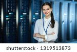female it specialist is... | Shutterstock . vector #1319513873
