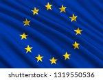 waving flag of european union.... | Shutterstock .eps vector #1319550536