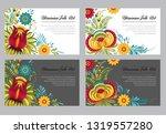 ukrainian background. abstract... | Shutterstock .eps vector #1319557280
