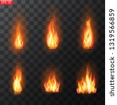 realistic burning fire flames... | Shutterstock .eps vector #1319566859
