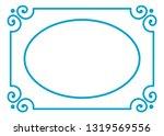 vector oval photo frame in... | Shutterstock .eps vector #1319569556