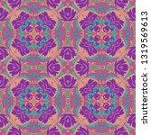 whimsical ethnic seamless...   Shutterstock .eps vector #1319569613