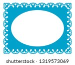 vector vintage oval border... | Shutterstock .eps vector #1319573069