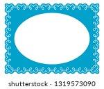vector vintage oval border... | Shutterstock .eps vector #1319573090